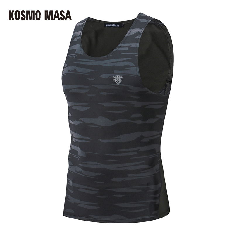 KOSMO MASA 2017 Compression Breathable O-Neck Tank Top For Men Tee Quick Dry Anime Fitness Hip Hop Jersey Tank Tops MC0309