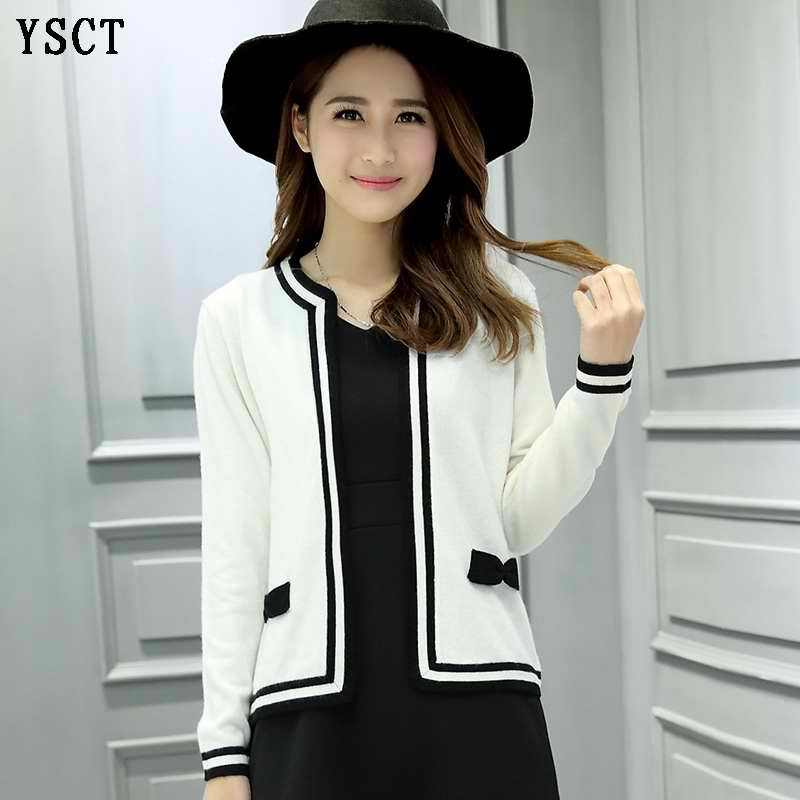 YUNSHUCLOSET 2017 Spring New pattern fashion ladies knitted Cashmere cardigan Higt quality free shipping