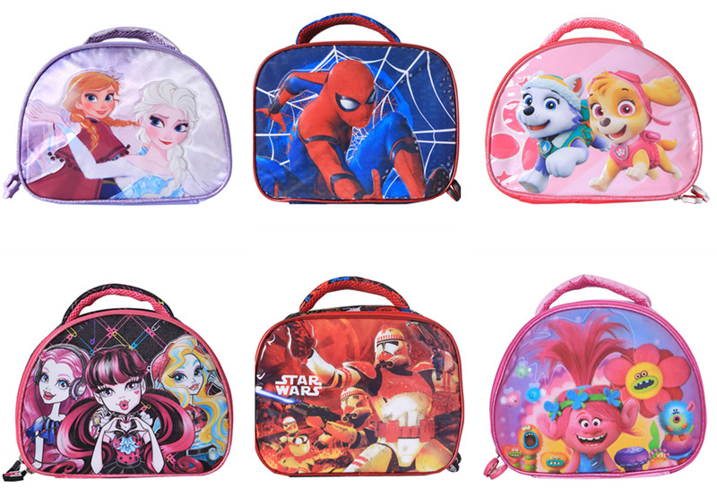 e39187c19fc1 Cute Cartoon Elsa Anna Star Wars Monster High Spiderman Lunch Bag for Boys  Girls Kids School Lunch Box Tote Bags Picnic Food Bag-in Lunch Bags from ...