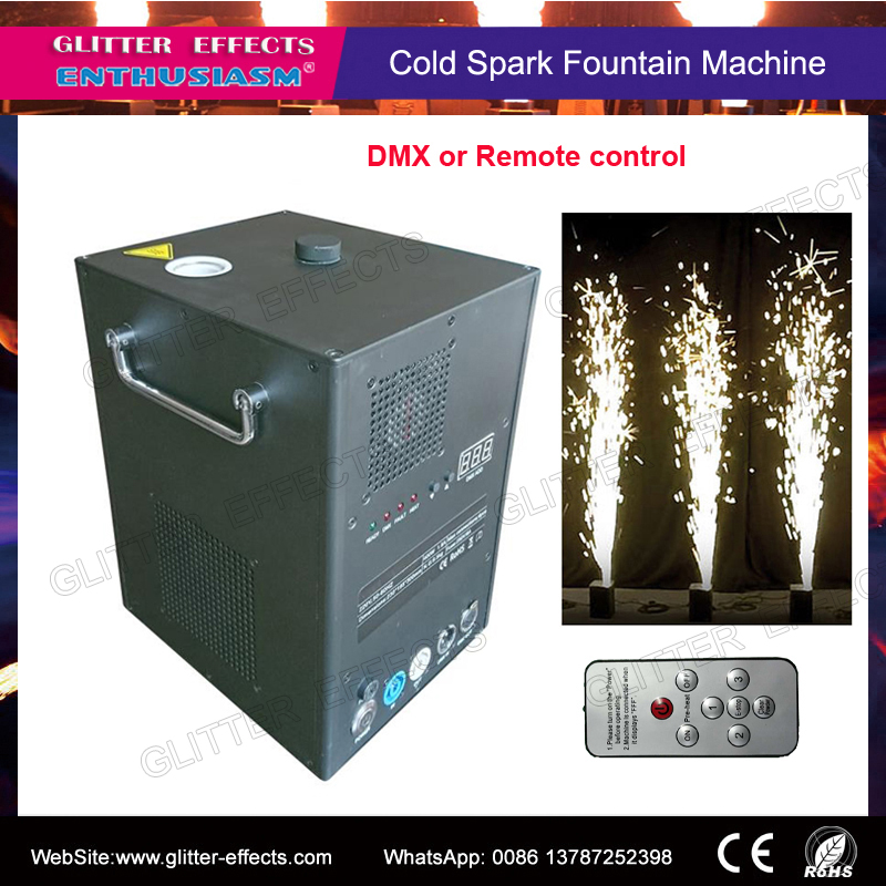 Controle remoto e DMX fase fria máquina de vela de fogo de artifício sparctic para o casamento