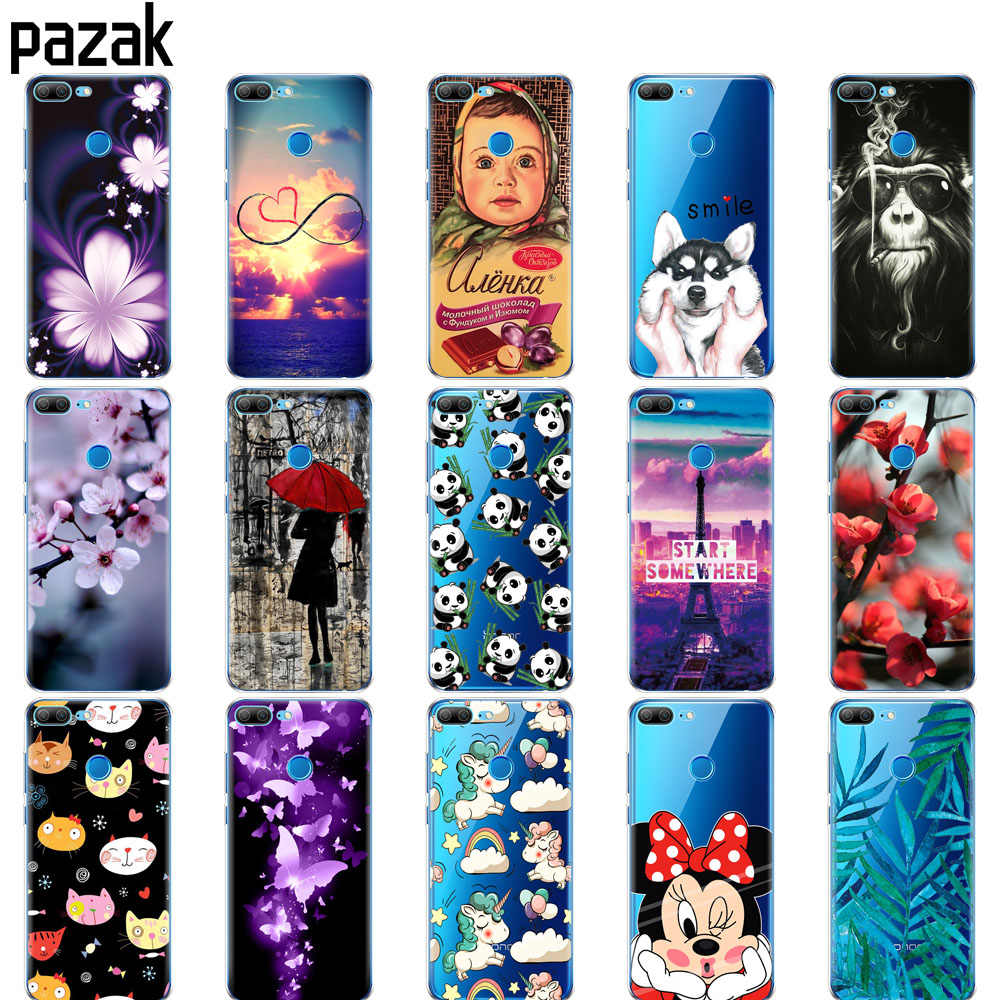 silicone case for huawei honor 9 honor 9 lite case soft tpu phone back cover 360 full protective printing transparent coque