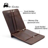 DERI CUZDN Leather Money Clip Slim Magnet Wallet Mans Famous Brand Nice Leather Money Clips With