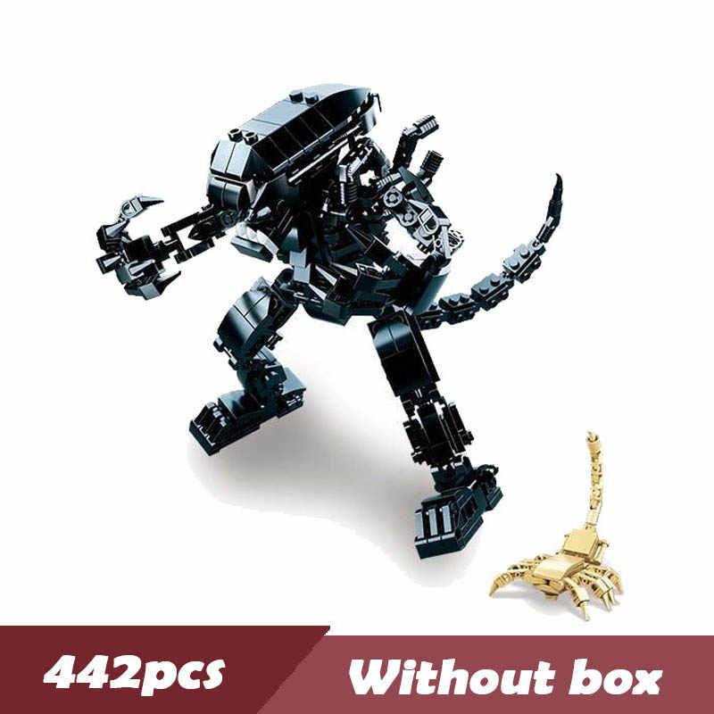 Хищник 4 битва фильм чужой бронированный вертолет модель строительные блоки Обучающие собранные кирпичи игрушки Legoings
