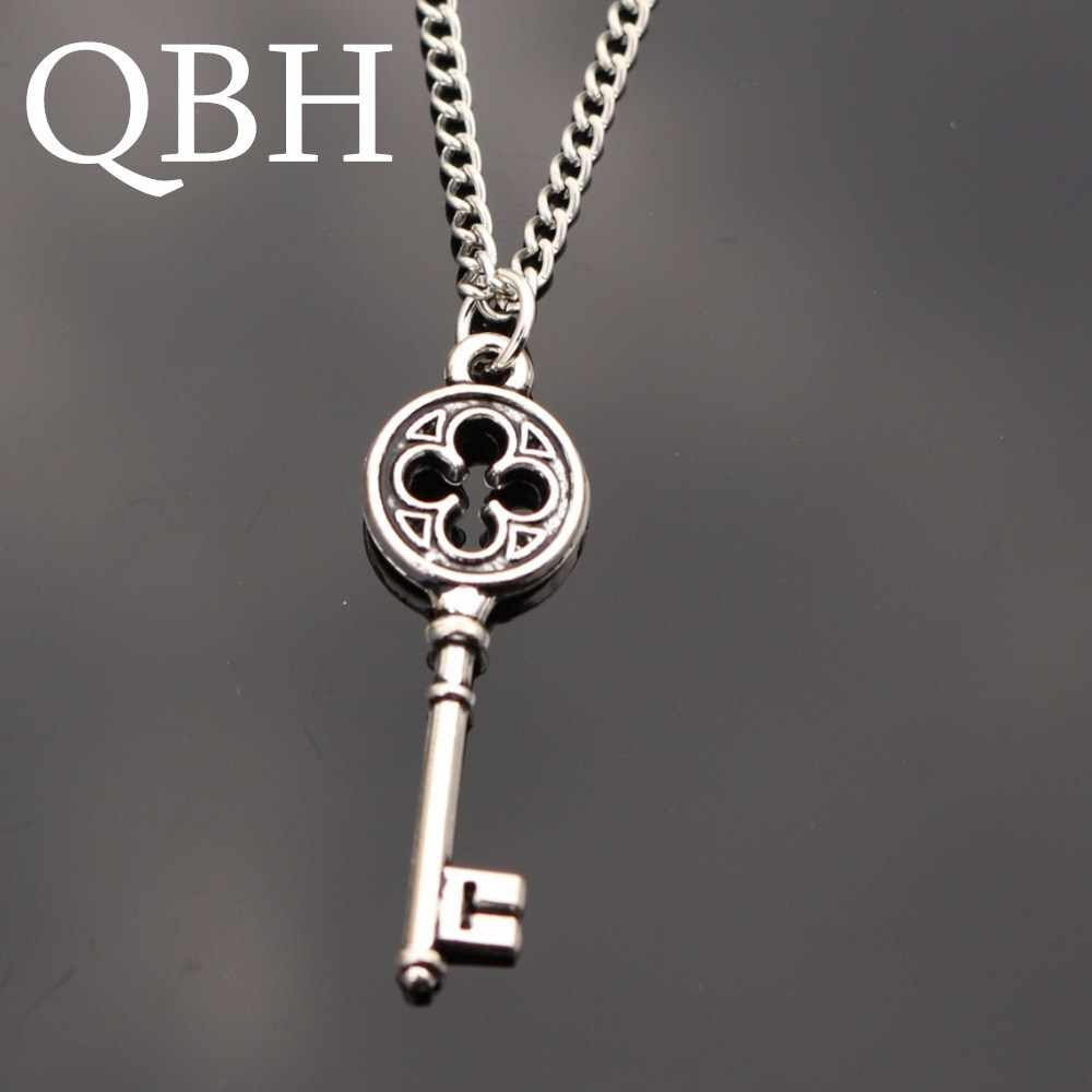 NK995 New Hot Love Vintage Punk Silver Key Pendant Necklace Collares Bijoux For Women Jewelry Girl Clavicle Chain Choker Gift
