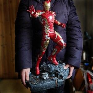 Image 5 - O vingador mk43 homem de ferro 1/4 escala corpo inteiro 50 cm estátua decoração para casa collectible figura ação resina estatueta presente para homem menino