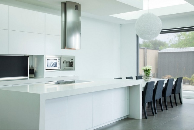 2017 Top diseño alto brillo lacado blanco gabinetes de cocina ...
