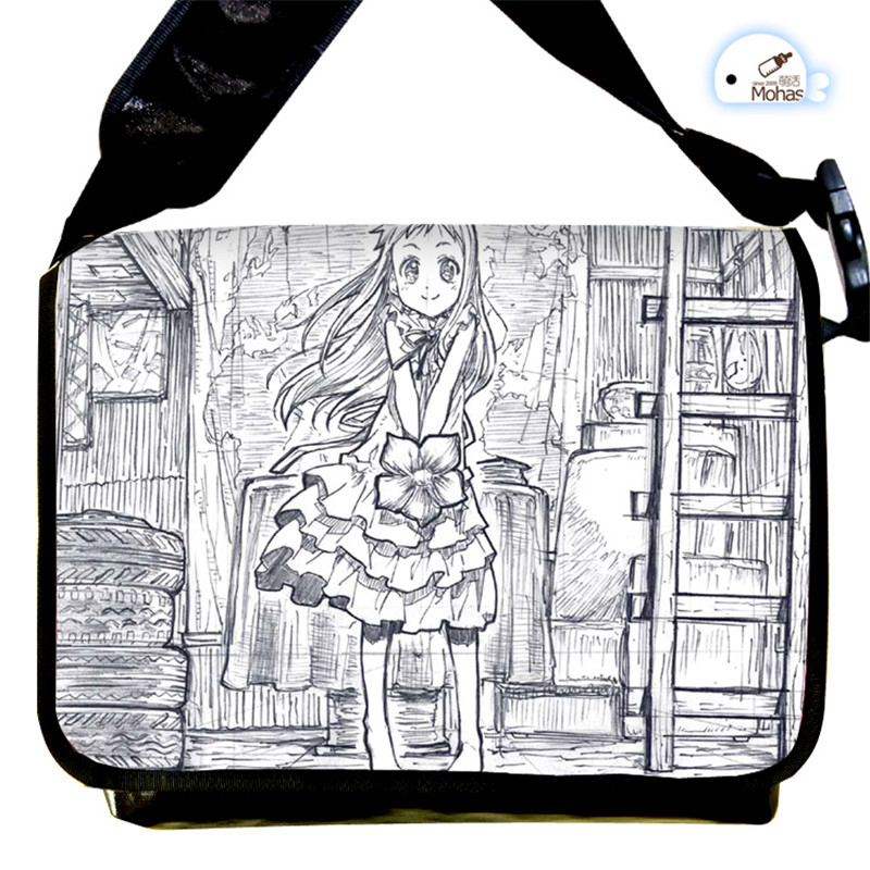 Anohana Messenger Bag Students Shoulder Bags for School Cartoon Cosplay Crossboy Bags Free Shipping
