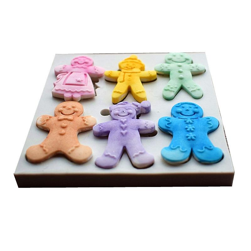 6 Cookies Dolls Silikon Kalıpları, Milad Şəkər Tort Kalıpları, - Mətbəx, yemək otağı və barı - Fotoqrafiya 4