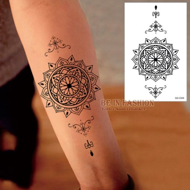 Buy 1piece waterproof temporary tattoo for Black temporary tattoo
