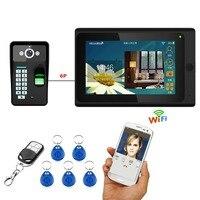 YobangSecurity Wifi Wireless Video Door Phone Doorbell Video Intercom Fingerprint RFID Password Camera With 7 Inch