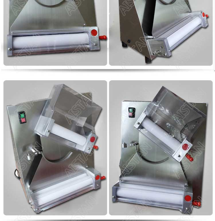 DR2A electric commercial stainless steel pizza dough roller/dough sheeter machine/dough press machine 9