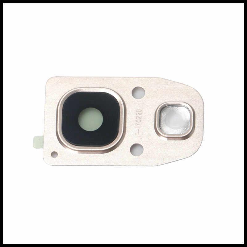 新しいリアバックカメラガラスレンズカバー三星銀河a320 a520 a720 a3 a5 a7 2017カバーリング付きフレームホルダーフラッシュカバー