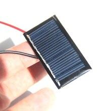 BUHESHUI 5V 25MA Mini Solar Cell Module+Cable DIY Polycrystalline Solar Panel Toy Charger LED Education Epoxy 45*25MM 100pcs