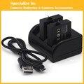 Eeyrnduy hero5 2 unids gopro cargador de batería set de $ number canales para accesorios go pro hero 5 gopro5 deporte cámara batería ahdbt-501