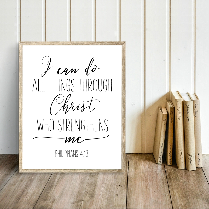 Bible Verse Painting Home Wall Decor
