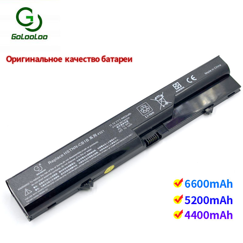 Golooloo 6 cells laptop battery for Hp ProBook 4425s 4520 4520s 4525s 4720s 587706-121 131 221 241 251 421 541 741 751 761