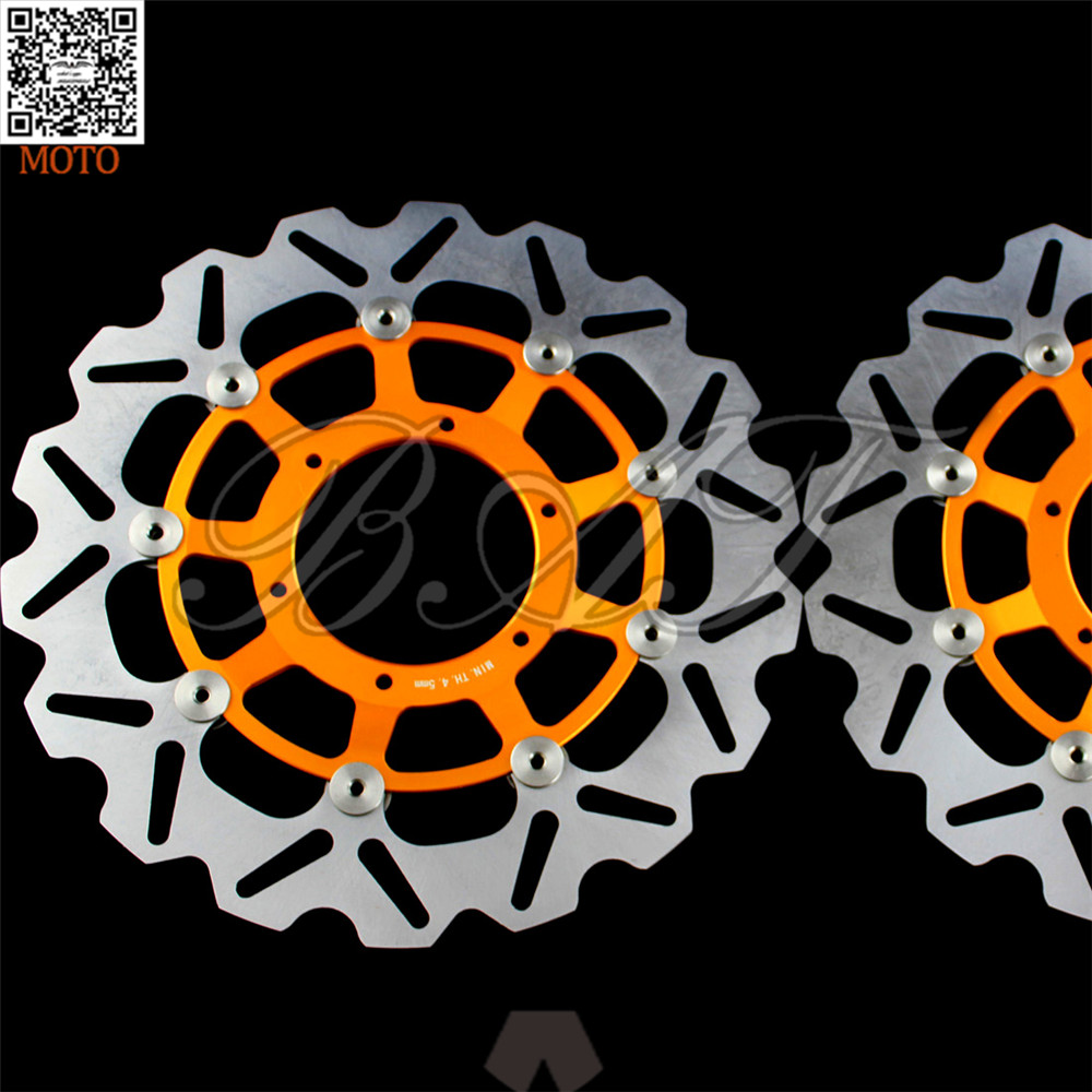 Motorcycle Front Brake Disc Brake Rotors For Honda CBR600RR 2003 2004 2005 2006 2007 2008 2009 2010 2011 2012 2013 2014 kemimoto 2007 2014 cbr 600 rr aluminum radiator grille grills guard cover for honda cbr600rr 2007 2008 2009 2010 11 2012 13 2014