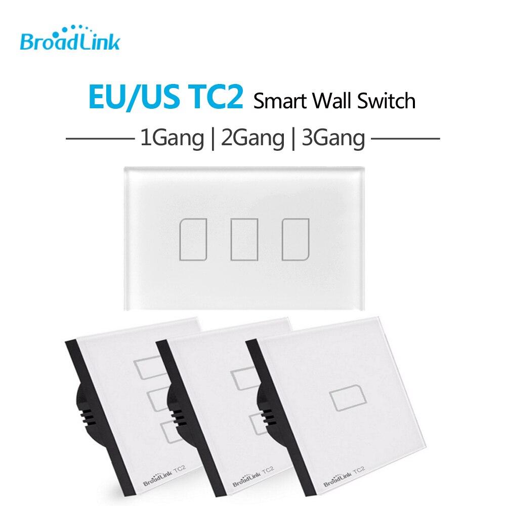 imágenes para Broadlink TC2 UE EE.UU. Estándar 1 2 3 Vías de Banda Táctil Luz a través de Control Remoto Interruptor de pared Inteligente Broadlink RM Pro TC 2 Wifi