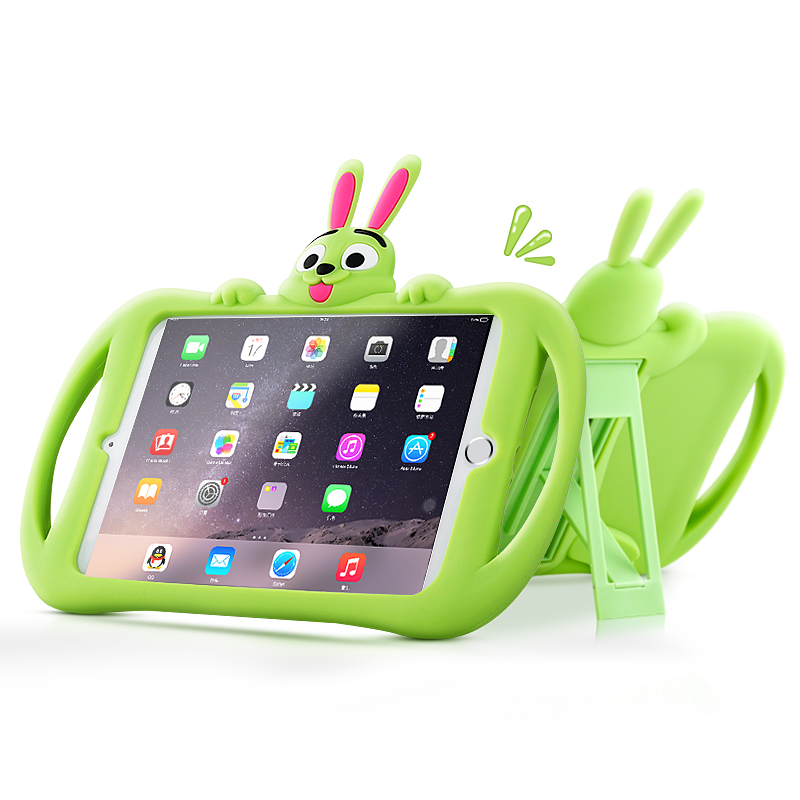 Cover Case for iPad Mini 1/2/3 Safe Kids Shockproof EVA Silicone Stand Grip Carrying Handle Cover for 7.9 iPad Mini 4 Coque+Pen case for ipad mini 1 2 3 4 full body protective silicone tablet pc cover shell coque kids case for ipad mini shockproof