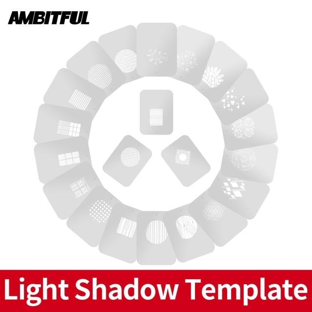 AMBITFUL AL 16 למקד חרוטי Snoots אור צל תבנית דוגמנות חתיכה עם סיני מודרני חלון פסטורלי סגנון