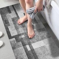 Gray Background False Carpet Floor Stickers Home Decal Non slip PVC Sticker Wall Floor Decoration 60x120cm