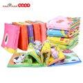 Детские Игрушки 3D Ткань Книги Детские Toys 0-12 Месяцев Раньше обучение и Образование Серии Коробка Книга для Детей Мягкие Детские Книги