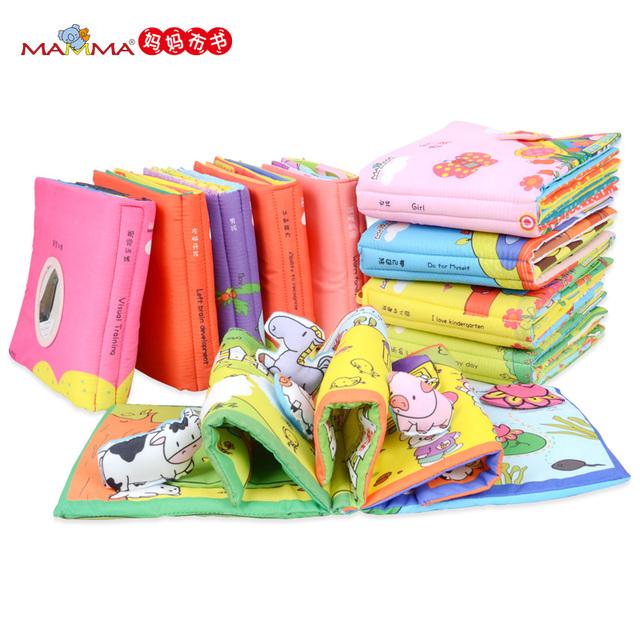 Brinquedo do bebê infantil livro de pano 3d baby toys 0-12 meses mais cedo aprendizado & Educação Livros Da Série Da Caixa de Livro para Crianças Bebê Macio