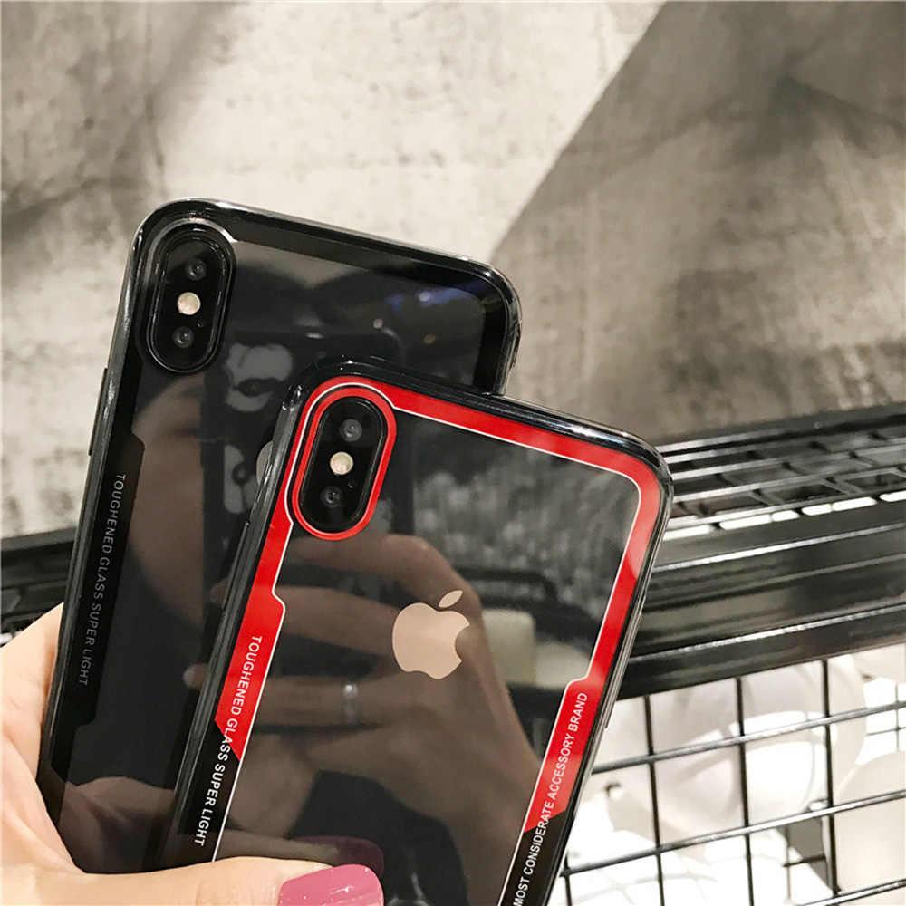 Heyytle 透明 Iphone 7 8 プラス 6 6 s XS 最大 XR × 10 ソフトエッジ Tpu ケース耐衝撃装甲カバー 7 プラス Fundas