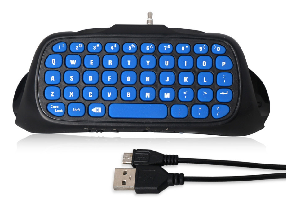 New Blue Mini 2.4G Wireless Bluetooth Keyboard Keypad Chatpad for PlayStation 4 PS4 Slim and For PS4 Pro Game Controller Gamepad