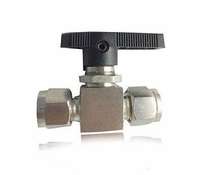 304 Stainless Steel Compression fitting shut off Ball Valve 915 PSI Q91SA PN 6.4 Fit For 3/4 inch O/D Tube 1 2 bsp female 304 stainless steel flow control shut off needle valve 915 psi water gas oil