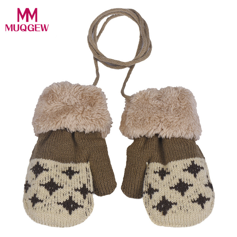 New Arrival Winter Warm Baby Gloves Cute Thicken Hot Infant Baby Girls Boys Of Knitted Stretch Mittens Lowest Price Zk906 Special Summer Sale Boys' Baby Clothing Accessories