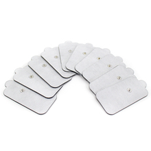 100pcs 4.7*9 Cm Reusable Adhesive Snap Electrode Pads Sticker Patch Tens Electrodes Pad for TENS EMS Electronic Therapy Massager