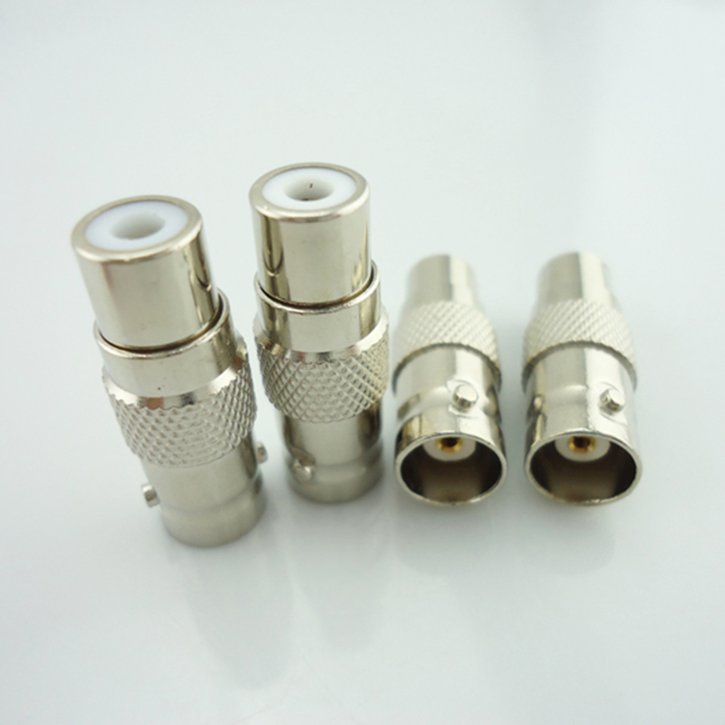 10pcs lot wholesale font b CCTV b font Surveillance accessories RCA Female to BNC Female Connector
