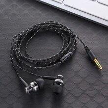 3,5 мм проводки сабвуфер наушники плетеная веревка провод тканевая веревка ушной Шумоизолирующий наушник для MP3 MP4
