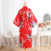 BZEL Bridesmaid Robes Sleepwear Long Sexy Robe Wedding Bride