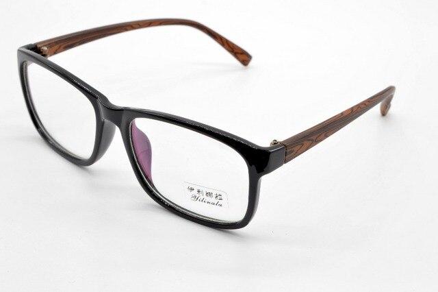 Anteojos FULL-RIM negro marco de madera piernas de COLOR grandes gafas de marco marco por encargo miopía óptica y lente gafas de lectura + 1 + 1.5 + 2 + 2.5 + 3TO + 6