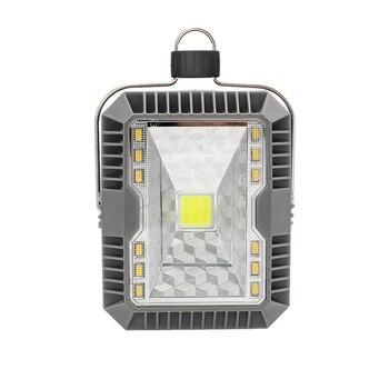 1 шт. наружный портативный фонарь солнечный COB Светодиодный свет 3 режима USB перезаряжаемая подвесная Ночная лампа для пешего туризма кемпин...