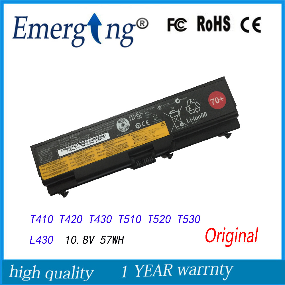 Nova bateria do laptop original para lenovo thinkpad t530 w530 l430 530 sl430 t410 t420 t430 t430i