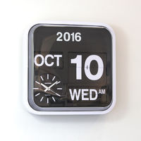 Extra Large Digital Wall Clock Flip Page Modern Design Wall Clocks Home Decor Calendar 17 Retro Auto Flip Clock Vintage