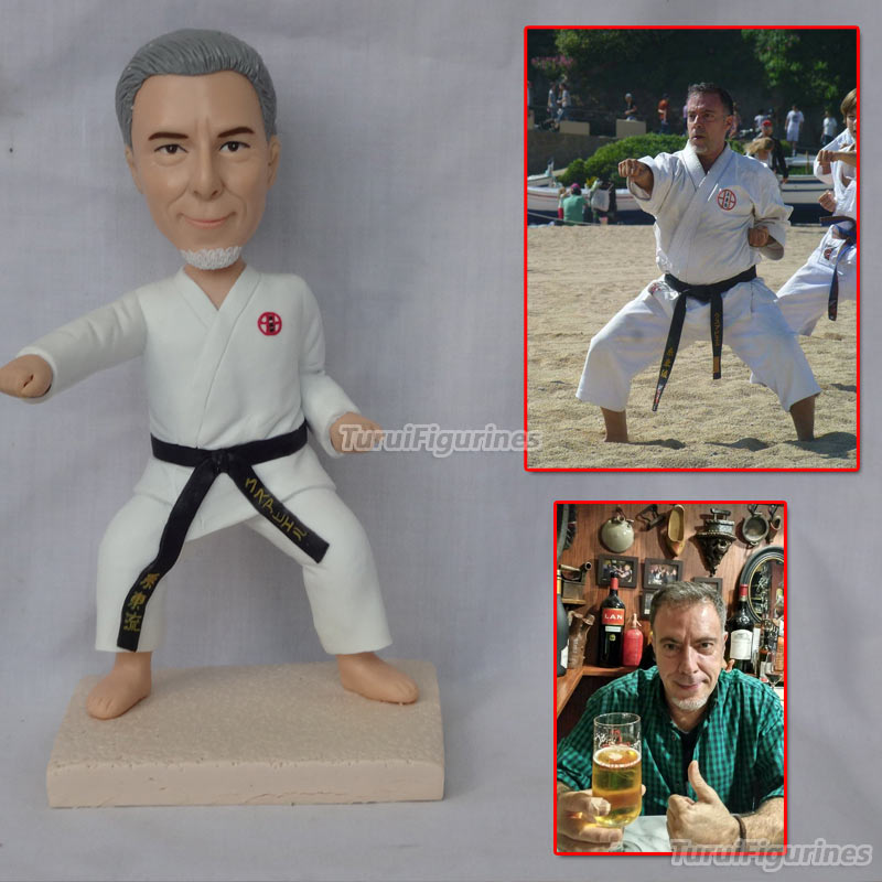 polymer clay doll figurine karate athlete birthday anniversary gift custom lover dolls gifts for boyfriend for him birthday gift gift for boyfriend on anniversary