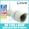 WIFI 1280 x 960P 1.3MP Bullet IP Camera Waterproof 24LED IR Night Vision Outdoor Security Camera ONVIF P2P CCTV Cam with IR-Cut