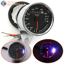 Universal Motorcycle Digital LED Dual Odometer Test Miles km / h Speedometer Gauge Tachometer Motorbike Parts Accessories