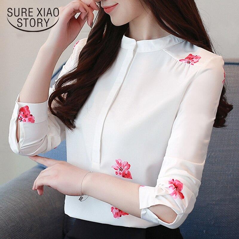 fashion woman   blouses   2019 print women   blouse     shirt   office   blouse   women plus size white   blouse   long sleeve women   shirts   1042 40