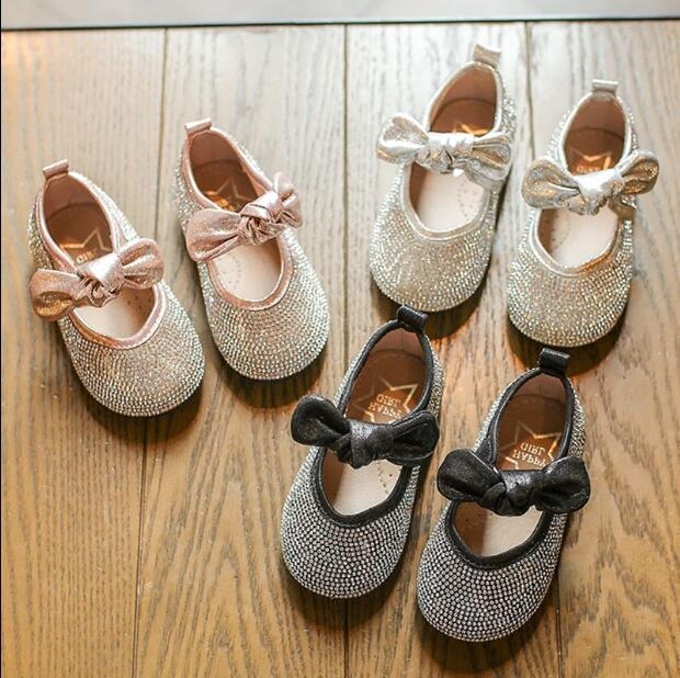 Bow-Shoes Glitter Girls Princess Summer Soft-Bottom Wholesale 21-36