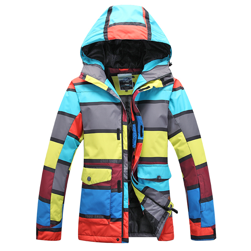 Prix pour 2015 Gsou snow hommes ski veste mâle snowboard veste imperméable 10 K hiver ski vêtements montagne-escalade veste vêtements de ski