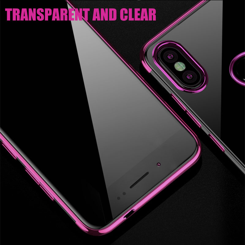 Xiaomi Redmi 7 Case Cover Luxury Transparen Soft Silicone Silm Plating TPU Back Cover For Xiaomi Redmi6 7 7Pro Cases Phone Coque in Fitted Cases from Cellphones Telecommunications