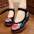 women's shoes boutique leisure shoes 5 cm affair slope with tendon end of old Beijing folk style embroidered shoes