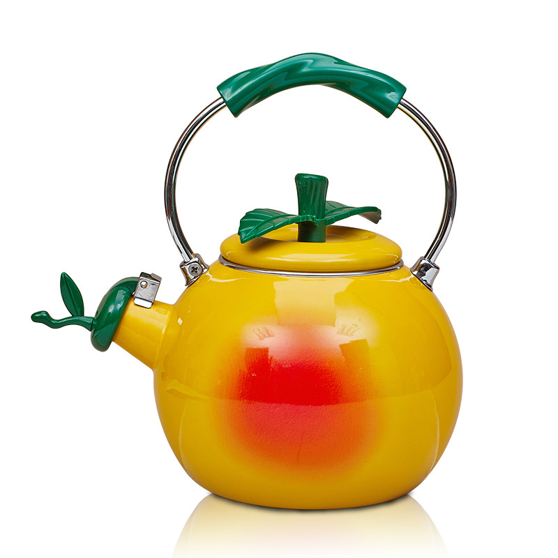 Creative High Quality 2L Enamel Watermelon Football Peach Water Kettle Teapot Cool Cooker Stove General Fruit