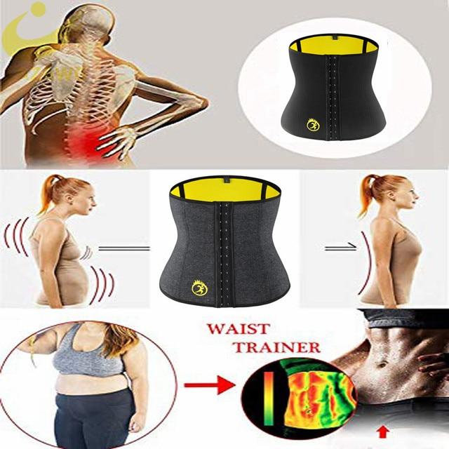 LAZAWG Women Waist Trainer Tummy Control Belt Waist Trimmer Weight Lost Corset Neoprene Sweat Sauna Strap Slimming Underwear 1