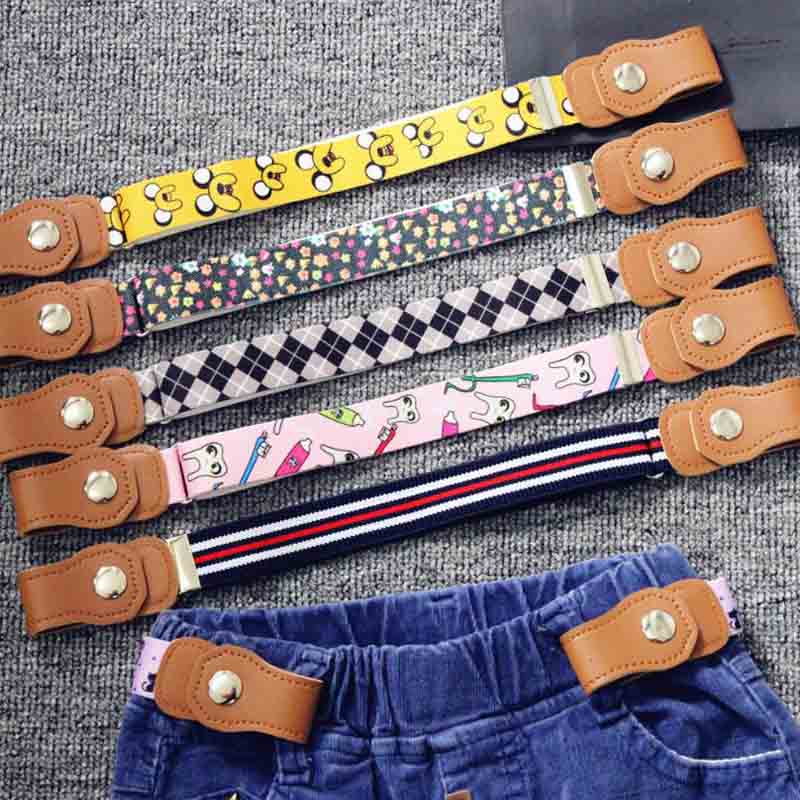 Child Buckle-Free Elastic Belt 2019 No Buckle Stretch Belt for Kids Toddlers Adjustable Boys and Girl`s Belts for Jeans Pants(China)